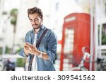young man using mobile phone in