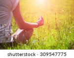 young woman during relaxation... | Shutterstock . vector #309547775