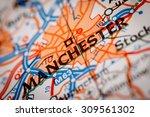 map photography  manchester... | Shutterstock . vector #309561302