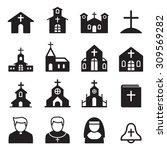 church icon silhouette | Shutterstock .eps vector #309569282