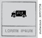 truck sign icons  vector... | Shutterstock .eps vector #309573758