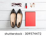 voyage concept   set of woman... | Shutterstock . vector #309574472