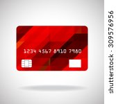 credit card icon with abstract...   Shutterstock .eps vector #309576956