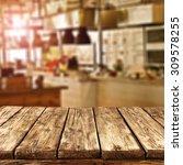 sun light in restaurant... | Shutterstock . vector #309578255