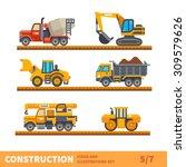 construction set. transport ...   Shutterstock .eps vector #309579626