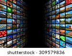 web streaming media tv video... | Shutterstock . vector #309579836