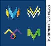 vector illustration m capital... | Shutterstock .eps vector #309581006