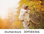 active seniors having fun and... | Shutterstock . vector #309584306