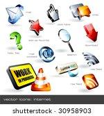 vector icon set  web  12 pieces