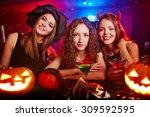 portrait of three girlfriends... | Shutterstock . vector #309592595