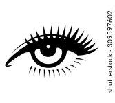 beautiful woman eye. vector...   Shutterstock .eps vector #309597602