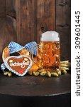 original bavarian oktoberfest...   Shutterstock . vector #309601445