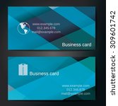 stylish business cards with... | Shutterstock .eps vector #309601742