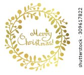 Gold Foil Christmas Greeting...