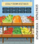local shop vegetables and... | Shutterstock .eps vector #309619835