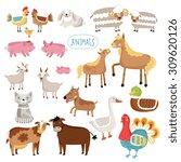 Farm Animals  Cartoon Farm...