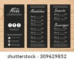 restaurant menu  infographics... | Shutterstock .eps vector #309629852