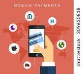 mobile payments. vector... | Shutterstock .eps vector #309630818