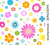 seamless flowers background | Shutterstock .eps vector #309633095