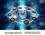computer network | Shutterstock . vector #309633602
