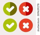 vector flat check mark icons...