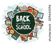 back to school concept with...   Shutterstock .eps vector #309644396