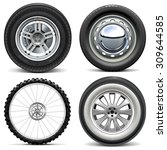 vector vehicle wheels | Shutterstock .eps vector #309644585