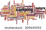 camping word cloud concept.... | Shutterstock .eps vector #309645452