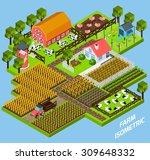 farm complex constructive toy...   Shutterstock .eps vector #309648332