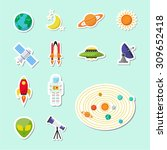 astronomy sticker icon | Shutterstock .eps vector #309652418