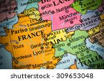 map view of switzerland on a... | Shutterstock . vector #309653048