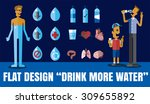 flat icon illustration drink... | Shutterstock .eps vector #309655892