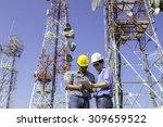 engineer communications check...   Shutterstock . vector #309659522