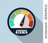 vector speedometer icon | Shutterstock .eps vector #309659612