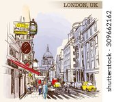 Panorama Of Busy Fleet Street...