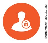user login or authenticate.... | Shutterstock .eps vector #309662282