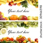 set of different bright tasty... | Shutterstock . vector #30966598