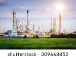 oil refinery factory at the... | Shutterstock . vector #309668852