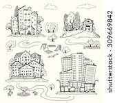 Set Hand Drawn Illustrations O...