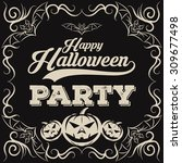 halloween vintage background | Shutterstock .eps vector #309677498