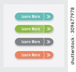learn more  vector buttons set. | Shutterstock .eps vector #309677978