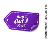 buy 2 get 1 free violet vector... | Shutterstock .eps vector #309681146