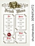 beer menu | Shutterstock .eps vector #309691472