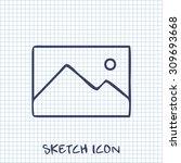 vector sketch icon of image...