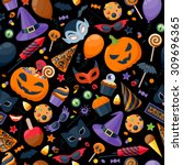 halloween party colorful... | Shutterstock .eps vector #309696365