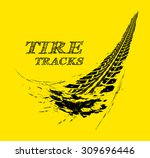 tire tracks. vector... | Shutterstock .eps vector #309696446