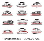 set of twelve car icons set | Shutterstock .eps vector #309699728