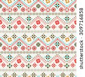 ethnic boho seamless pattern....   Shutterstock .eps vector #309716858