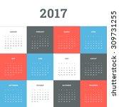 Calendar 2017. Simple Flat...