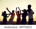 friendship  summer vacation ... | Shutterstock . vector #309732812